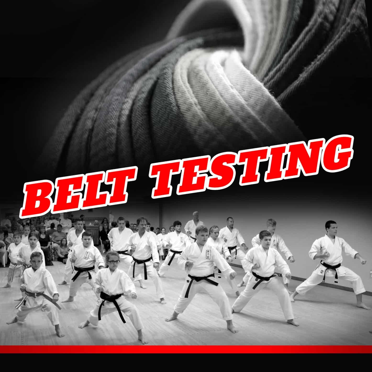 Joe Goss Karate Belt Testing